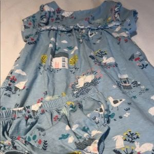 Boden farm animals dress and diaper cover EUC